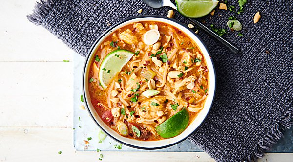 Coconut Curry Chicken Noodle Soup