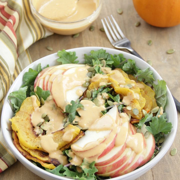 Autumn Salad with Creamy Pumpkin Dressing