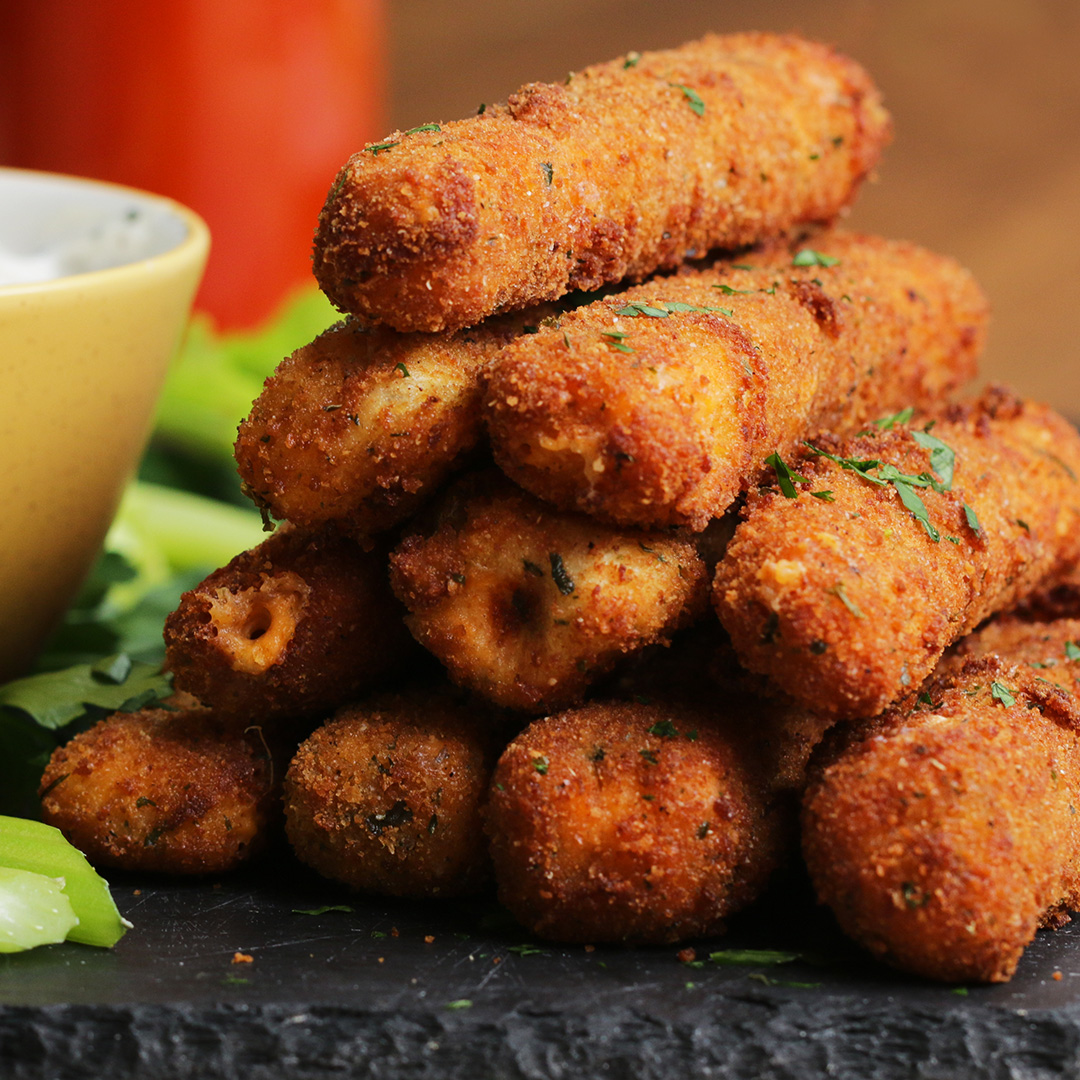 Buffalo Chicken Mozzarella Sticks Recipe by Tasty