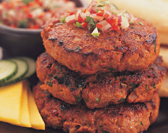 Tandoori Burgers with Chilli Salsa